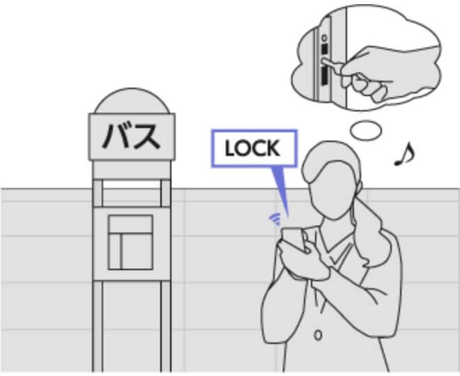 玄関ドアのロック状況をスマホで把握